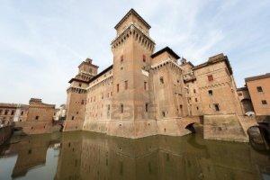 11108948-ferrara-emilia-romagna-italia--il-castello-medievale--quot-castello-estense-quot--14--secolo
