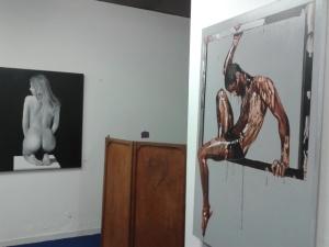Alcune opere di Marco Amore in mostra