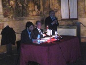 Massimo Cacciari e Marco Bertozzi (foto d'archivio)