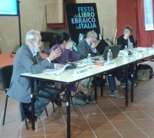 Da sinistra, Michele Sarfatti, Manuela Consonni, Arturo Marzano, Serena Di Nepi, Carlotta Ferrara degli Uberti