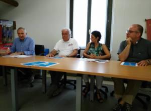 Da sinistra, Fausto Tagliani, Florio Ghinelli, Barbara Paron e don Andrea Frazzoli