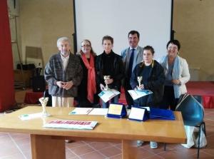 Da sinistra, Vito Tumiati, Francesca Mariotti, Federica Cipriani, Girolamo Calò, Irene Grazi e Maria Cristina Nascosi Sandri