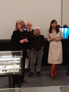 Da sinistra, Concetta G. Saba, Carlo Ansaloni, Lola Bonora e Maria Luisa Pacelli