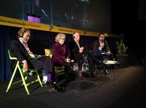 Da sinistra, Cengiz Aktar, Antonia Arslan, Bernard Guetta e Andrea Pipino