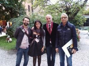 Da sinistra, Lucio Russo, Nadia Celi, Ermanno Leso, Paolo Cutrano