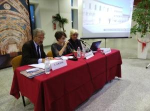 Da sinistra, Luigi Grassi, Matilde Turchetti e Mariella Carlotti