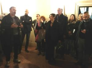 Da sinistra, Mustafa Sababgh, Claudio Gualandi, Linda Mazzoni, Maria Livia Brunelli e Massimo Maisto