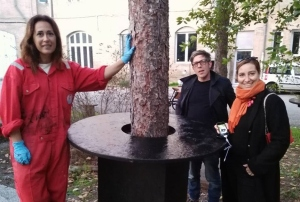 Da sinistra, Silvia Donini, Riccardo Catozzi e Maria Livia Brunelli