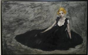 Un'opera di Serio in mostra