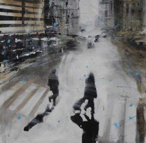 Alfredo Pini, Ombroso, 2015, olio su tela, cm. 40x40 (Copia)
