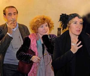 i tre curatori (foto di Luca Pasqualini)