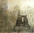 La tigre e la luna, 2014, cm. 200x200