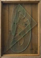 3-M. Ceroli 1970 La valigia dell'emigrante P.A. legno e cristallo cm.106x75x11,5