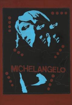 65-T.Festa Da Michelangelo 1976 acrilico su tela cm.70x50
