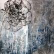 Peonia tra luce e ombra, 2015, cm.100x100x3,5