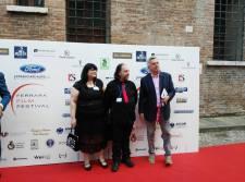 Margherita Pasetti, Maurizio Ganzaroli e Alberto Squarcia (membri della Ferrara Film Commission, presieduta dallo stesso Squarcia)