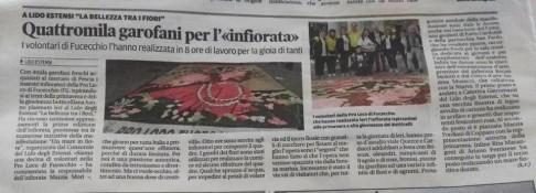L'articolo di Katia Romagnoli, la Nuova Ferrara, 09 maggio 2016