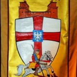Il drappo di San Giorgio realizzato da Cutrano