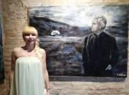 Natalia Lobes e il suo dipinto dedicato ad Antonioni