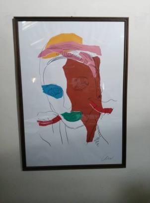 """Andy Warhol, """"Ritratto di donna con cuffia"""" (1975, serigrafia, 98x69 cm.)"""