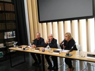 Alberto Boschi, Franco Basile e Angela Memola
