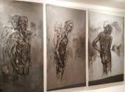 Piero Manai, Lezione di pittura - I quadri nello studio (trittico) (1984-'85)