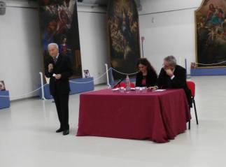 Giulio Bargellini, Valeria Tassinari e Fausto Gozzi durante l'inaugurazione