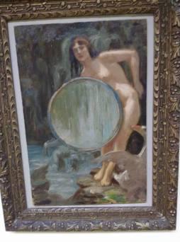"""Giuseppe Mazzei, """"Leda col cigno"""", 1915 ca."""