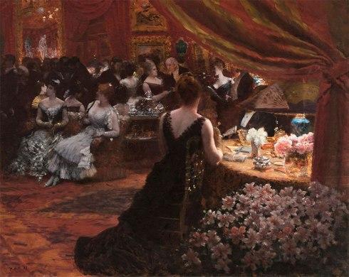 Giuseppe De Nittis, Il salotto della principessa Mathilde, 1883